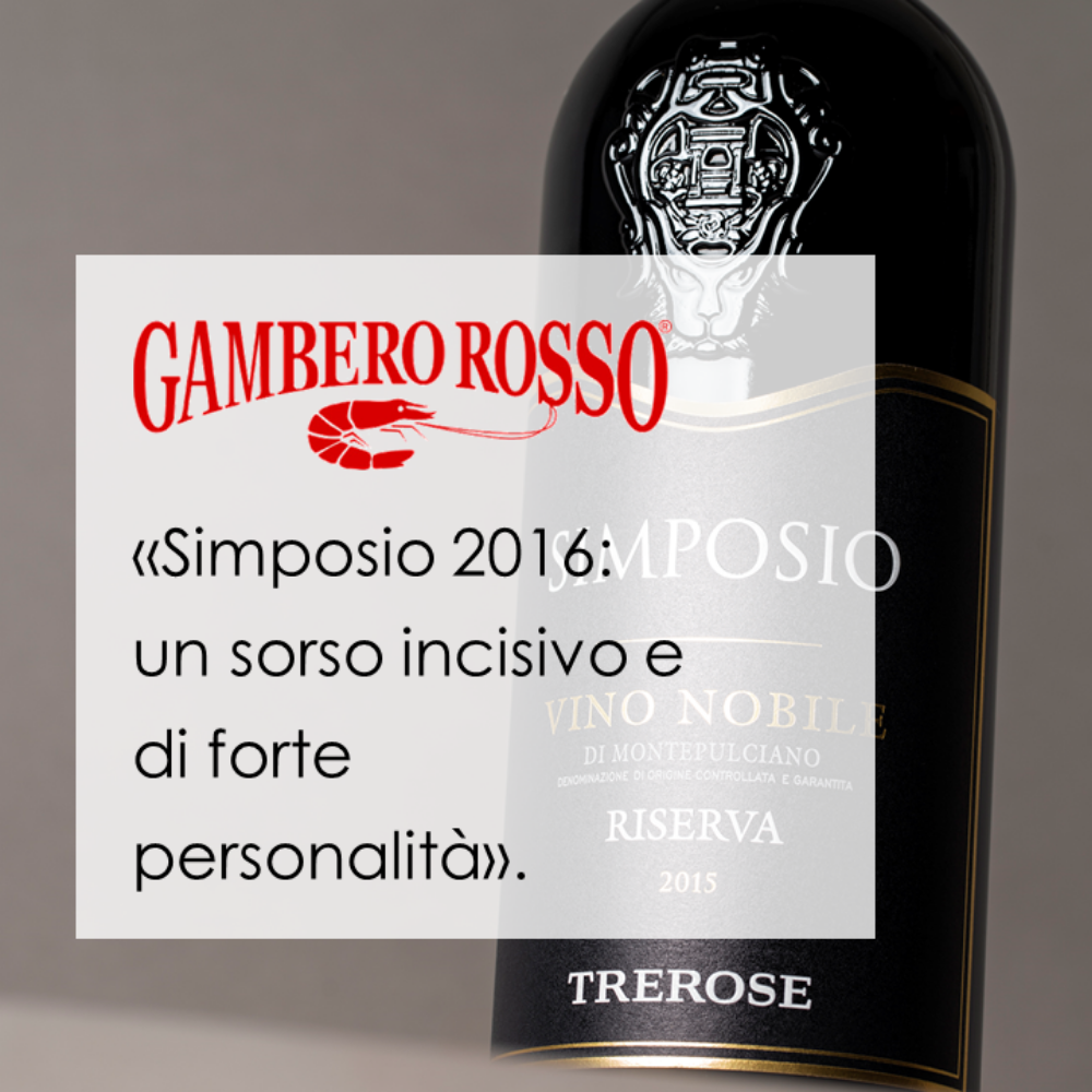 Simposio Riserva 2016 among the 10 best wines tasted by Gambero Rosso during the Anteprima Vino Nobile
