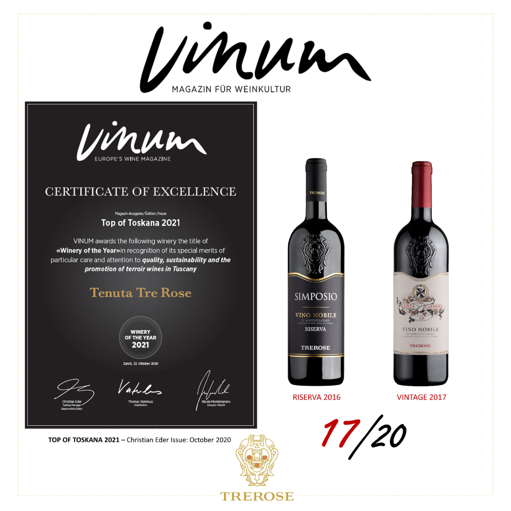 Tenuta Trerose è 'Winery of the Year' per Vinum